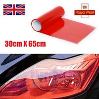 30 x 65cm Red Headlight Tint Dark Smoke Film Fog Tail Lights Tinting Car