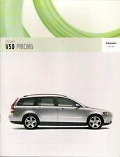 Volvo V50 Specification 2005-06 UK Market Brochure S SE Sport