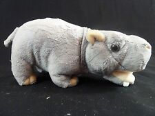 Hippo 8 inch Standing Realistic Stuffed Plush Toy Animal NEW Unipak UP9944HI