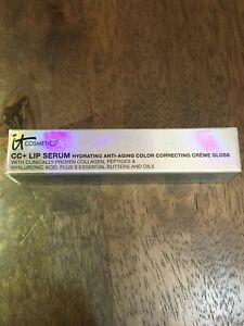 it Cosmetics CC+ Lip Serum Anti-Aging Lip Gloss LIVE 0.11 oz NWOB