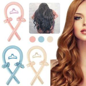 Lady Silk Ribbon Hair Curlers Heatless Curling Rod Headband Wave Formers VM