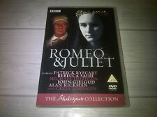 Romeo & Juliet Patrick Ryecart BBC Shakespeare Collection Genuine R2 DVD VGC