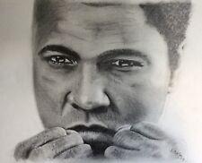 Original Graphite Pencil Portrait Of Muhammad Ali