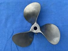 "Vintage 9.4"" Stainless Steel Boat Prop ~ Beautiful Shape, Unused"
