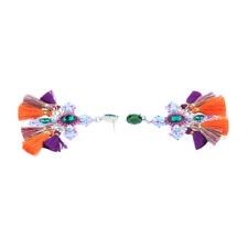 Tassel Earrings Artificial Gemstone Suitable for Women Long or Short Dress