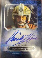 2016 Star Wars Masterwork Autographs Garrick Hagon Biggs Darklighter