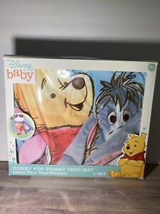Winnie the Pooh Honey Pot Tummy Time Mat Infant Play Time Blanket BRAND NEW