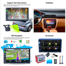 7'' HD Touch Screen Double 2 Din MP5 Unit GPS Reversing  Bluetooth  MP3 Radio