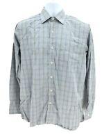Bugatchi Uomo Classic Fit Long Sleeve Button Up Shirt Men's Small Regular Blue