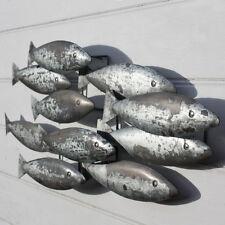 Fish Shoal | Metal Wall Hanging Coastal Decoration by Shoeless Joe