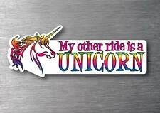 My other ride is a Unicorn sticker 7 year water & fade proof vinyl ipad car