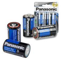 4 X Panasonic D Batteries Super Heavy Duty Carbon Zinc Battery 1.5V