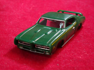 MoDEL MoToRING 69 Green GTO Judge T-jet HO Scale Slot Car Body Aurora RRR