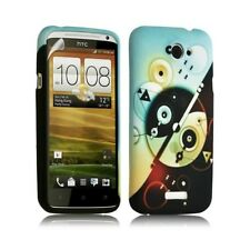 Housse coque étui gel pour HTC One X motif LM12 + Film protecteur