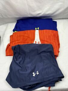 Lot of 3 Under Armour Men's Athletic Shorts Size XLarge Long Basketball Workout