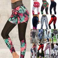 Womens 3D Christmas Printed Festival Fitness Sports Slim Leggings Long Pants CDO