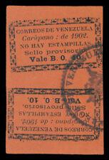 VENEZUELA 1902 CARUPANO PORT - Local Typeset Provisional 10c black TETE-BECHE