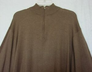 Mens Brown Cashmere & Silk Long Sleeve Sweater Size XXL Northern Light