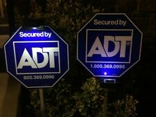 2 Solar Light for Security Yard Sign ADT Home Protection CCTV System Real Estate
