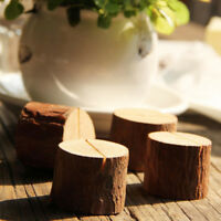 10Pcs Wooden Table Card Stand Number Place Name Memo Holder Party Wedding Decor