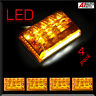 4x 27 LED Turn Signal Rear Tail License Number Plate Lamps 12V Car Truck Trailer