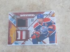 New listing 2013-14 UD AUTHENTIC JORDAN EBERLE DOUBLE PATCH CARD 11/15