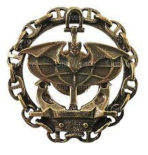 Russian Navy Spetsnaz Bat & Globus Military Uniform Badge Brass Screwback