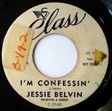 JESSIE BELVIN 45 I'm Confessin'/Deep in My Heart CLASS doo wop VG+ promo h1064