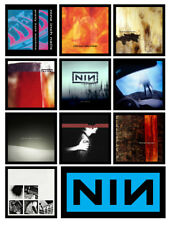 NINE INCH NAILS 10 album cover discography magnets lot (ministry marilyn manson