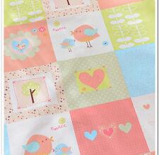 160cm*50cm cartoon bird cotton fabric sewing baby quilting patchwork tecidos