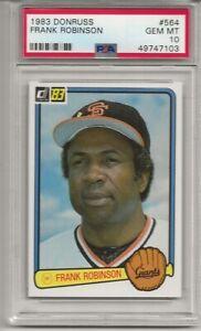 1983 DONRUSS #564 FRANK ROBINSON, PSA 10 GEM MINT,  HOF, SAN FRANCISCO GIANTS
