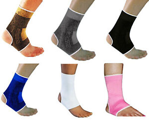 2 x Elasticated Ankle Support Protection Sport Sock Sprain Running Injury Gym UK