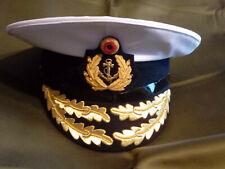 Bundeswehr Schirmmütze Marine Admiral mit Abzeichen Größe 59cm