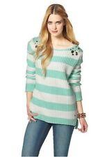 Gestreifte Damen-Pullover & -Strickware aus Baumwollmischung ohne Verschluss