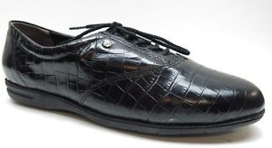 Easy Spirit Motion Black Animal Print Leather Oxford Shoes 9D 9 Wide NEW