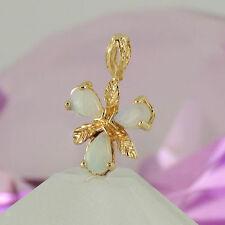 Echte Edelstein-Halsketten & -Anhänger aus Gelbgold mit Opal und Tropfen für Damen