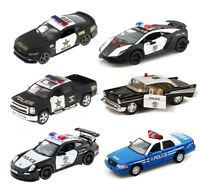"5"" Kinsmart FORD CHEVY Lamborghini Porsche Dodge Police Diecast Model Toy Car"