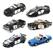 "5"" Kinsmart FORD CHEVY Lamborghini Porsche Dodge Police Diecast Model Toy Car"