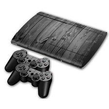Ps3 PlayStation 3 super slim skin Design pegatinas película protectora set-Grey Wood