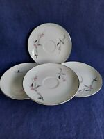 "VINTAGE CHERRY BLOSSOM 1067 FINE CHINA 4 SAUCERS 5 7/8"" MADE IN JAPAN."