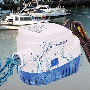 12V 1100GPH Bilgepumpe Lenzpumpe Bilgenpumpe Pumpe Automatische Mit Schalter .