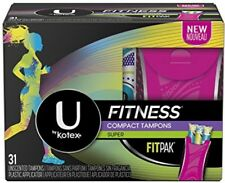 U By Kotex Unscented Super Absorbency Fitness Tampons With Fit Pak, 31 Count
