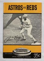 Houston Astros 1972 Program & Scorecard vs. Cincinnati Reds