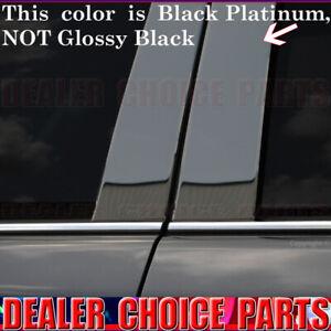 BLACK PLATINUM STAINLESS STEEL Pillar Posts 2007-2014 Cadillac Escalade 4pc Set