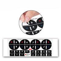 1x autocollant de réparation de bouton de tableau de bord ac pour silverado