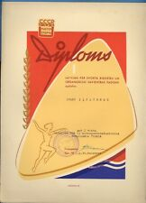 1965s LATVIA RUSSIA DIPLOMA 1ST PLACE CHAMPIONSHIP CHECKERS VINTAGE COVER 727
