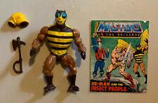Vintage Masters of the Universe Buzz Off Figure w/ Accessories heman motu