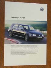 2001 Volkswagen Golf GTi Australian single page brochure