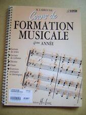 Cours de formation musicale 4ème année exercices pratiques et théoriques /N21