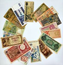 Lot of 16 World Banknotes Collection Auction From 1$